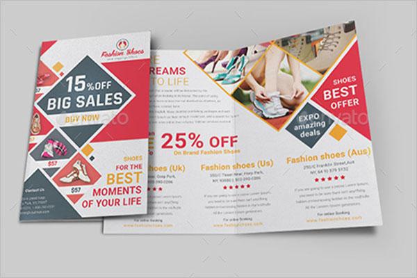 Basketball Shoes Brochure Template