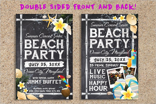 Beach Party Planning Template