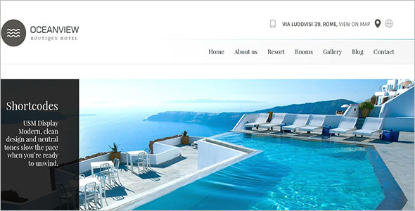 Beach Resort Website Template