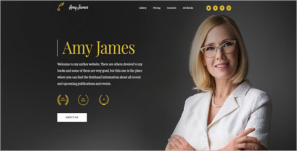 Best Author Blog Template