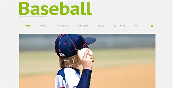 Best Baseball Website Template