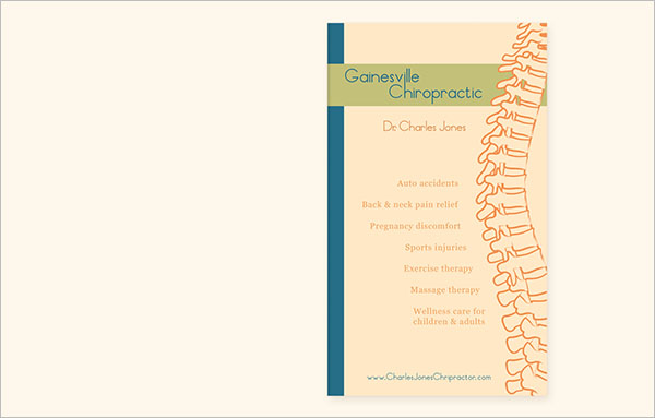 Best Chiropractic Brochure Design