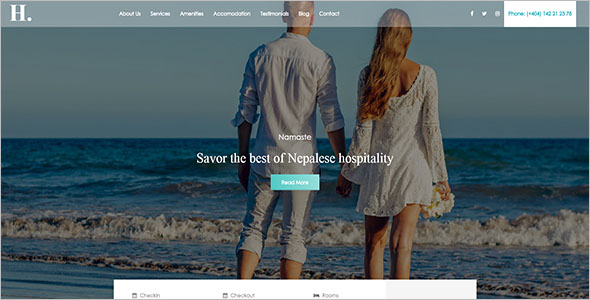 Best Destination Resorts Website Template