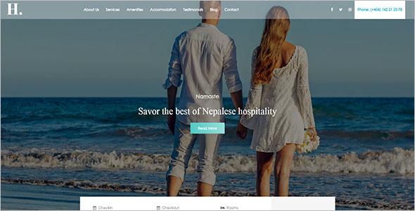 Best Destination Resorts Website Template