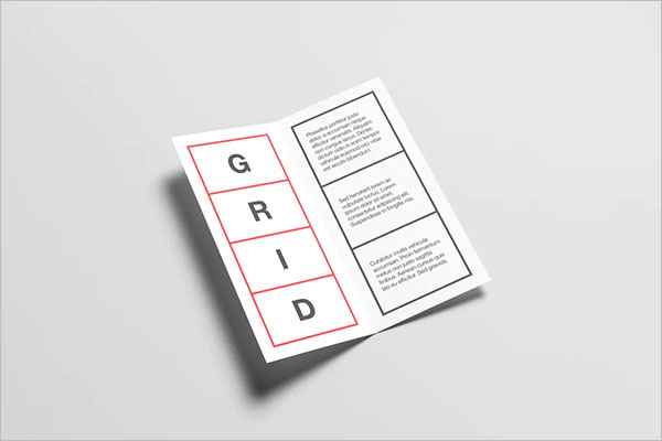 Best Half Fold Brochure Template