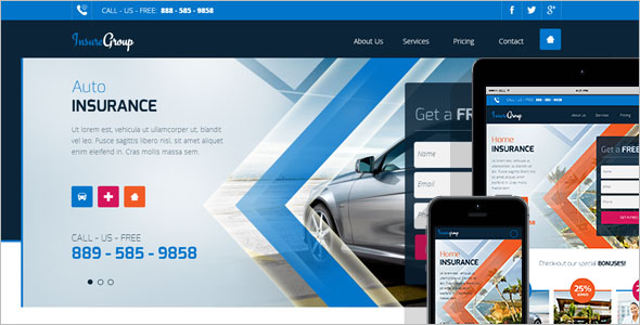 Best Insurance Landing Page Template