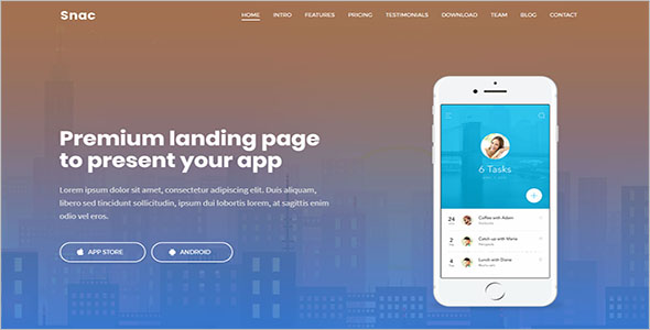 Best Internet Marketing Landing Page Template
