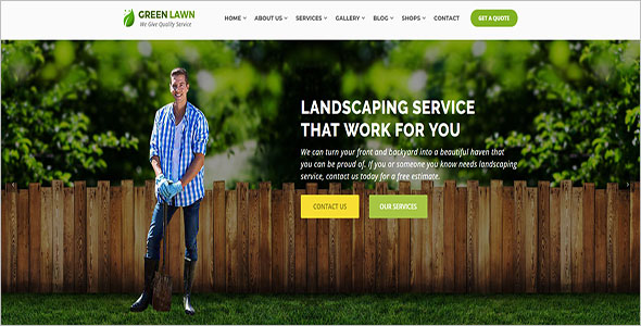 Best Landscaping Blog Template