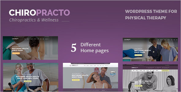 Best Physiotherapy & Chiropractor WordPress Template