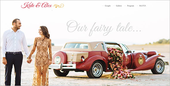 Best Wedding Landing Page Theme