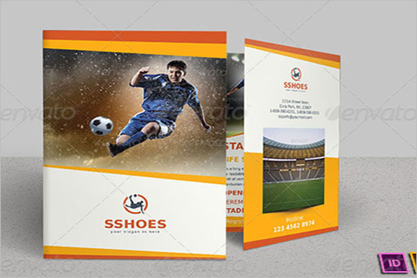 Bi-Fold Basketball Brochure Template