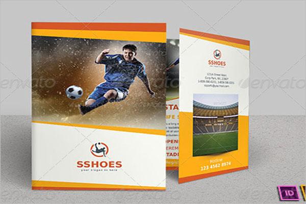 Bi-Fold Basketball Brochure Template