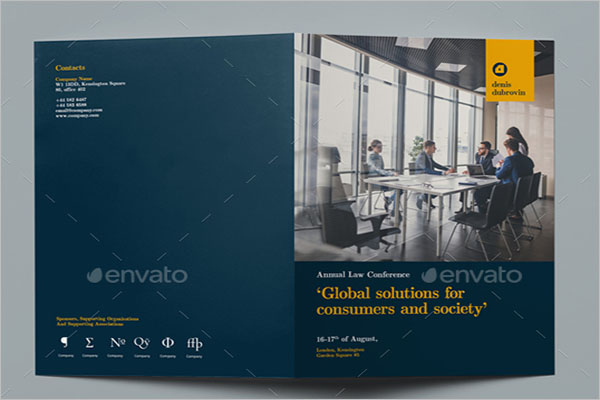 Bi-fold Conference Brochure Template