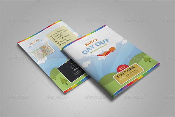 Bi-fold Camp Brochure Template