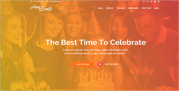 Birthday Celebrations Website Template