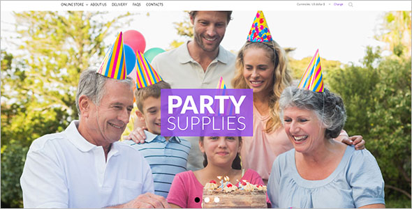 Birthday Party Website Theme