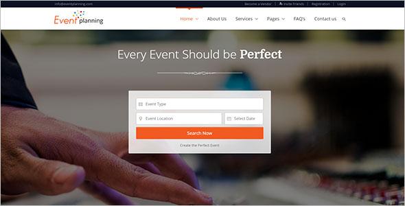 Birthday Planner Website Template
