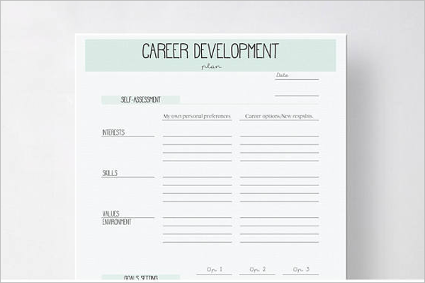 Blank Development Plan Template Word