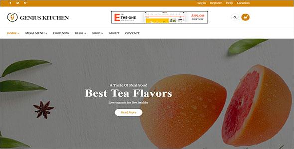 Blog Food WordPress Theme