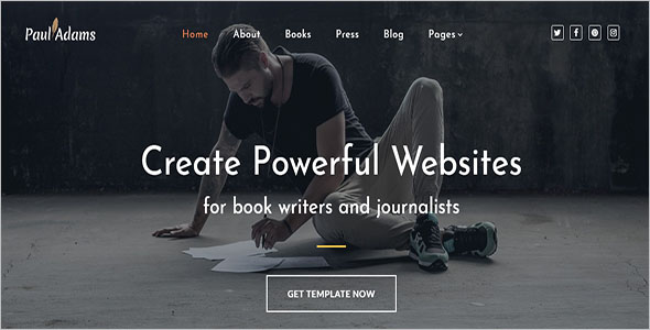 Book Author HTML5 Template