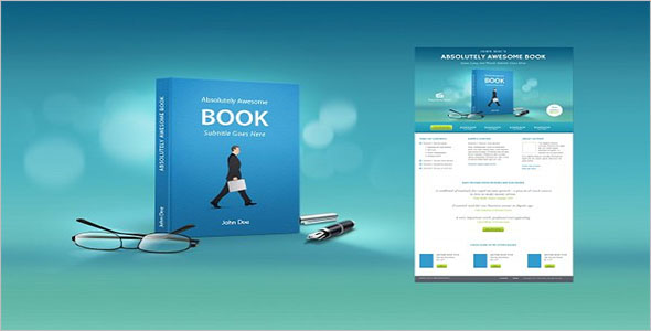 Book Marketing Landing Page Template