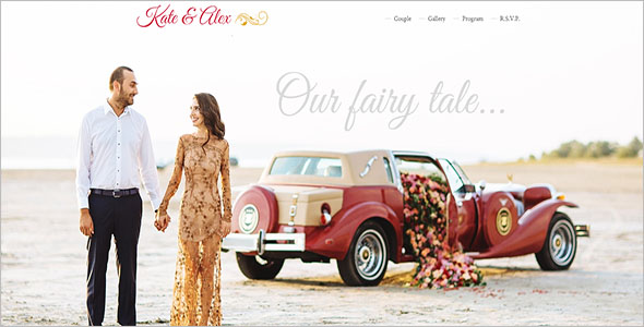 Bootstrap 3 Wedding Template