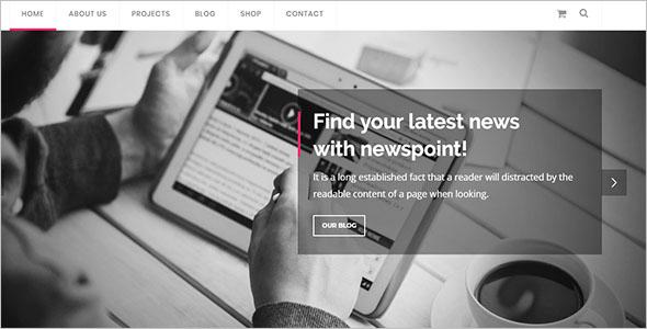 Bootstrap 4 Magazine Template
