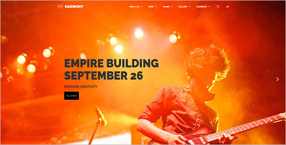 Bootstrap 4 Music Template