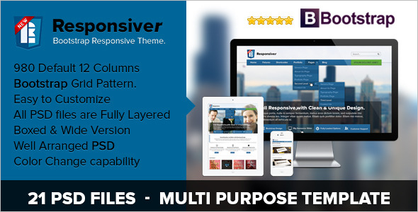Bootstrap HTML5 Web Template