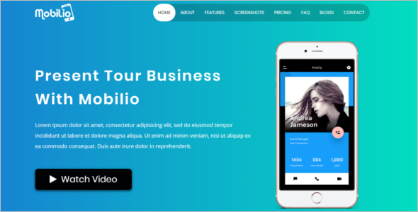 Bootstrap Mobile App Template