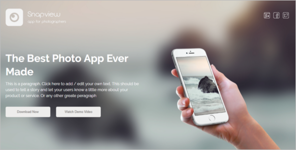 Bootstrap Mobile Template Free Download