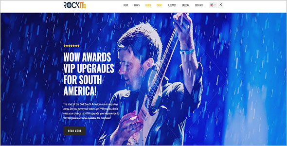 Bootstrap Music Site Template