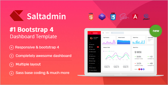 Bootstrap jQuery Dashboard Template