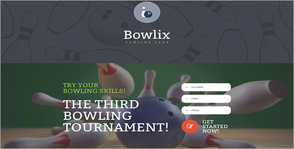 Bowling Landing Page Template