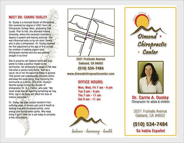 Brochure DesignChiropractic`