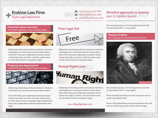 Brochure Template For Legal