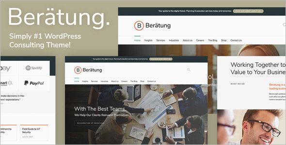 Broker Website WordPress Theme