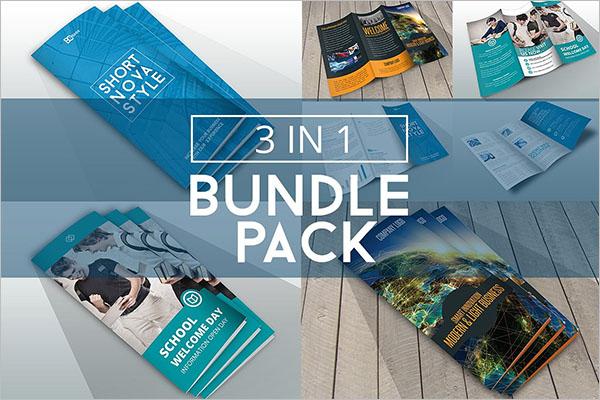 Bundle Half Fold Brochure Template