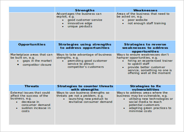 Business Development Strategy Template