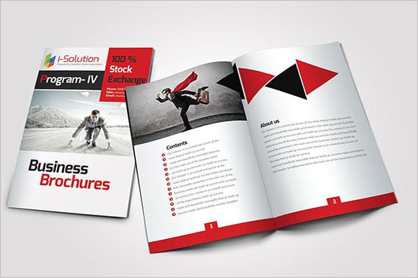 Business Half Fold Brochure Template