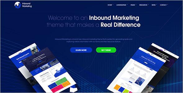 Business Marketing Landing PageTemplate