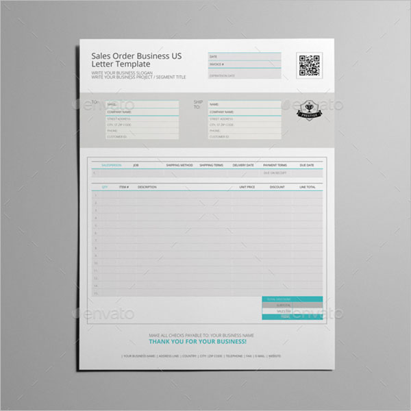 Business Sales Order Template