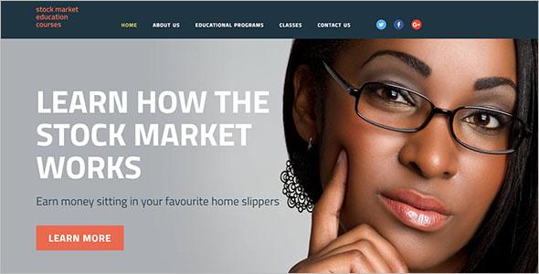 Business School Website Template