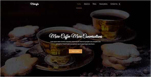 Cafe HTML Website Template