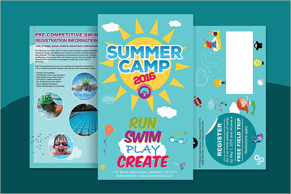 Camp America Brochure Template