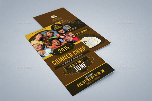 Camp Brochure Design Idea