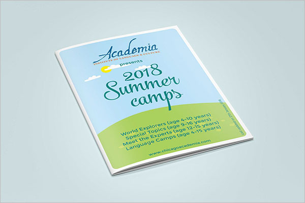 Camp Brochure Template 2018