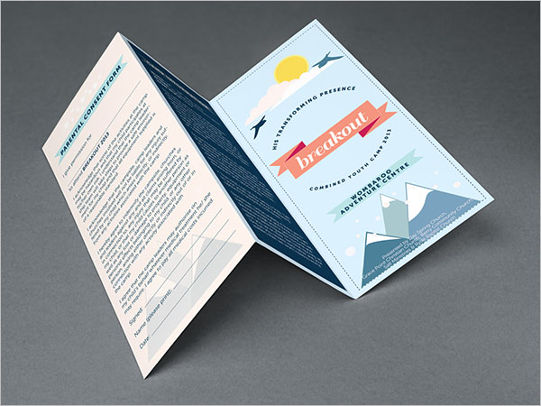 Camp Brochure Template Free Download