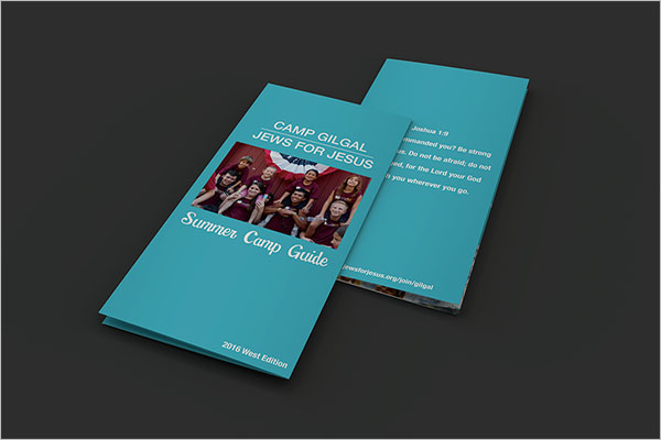 Camp Brochure Template Free