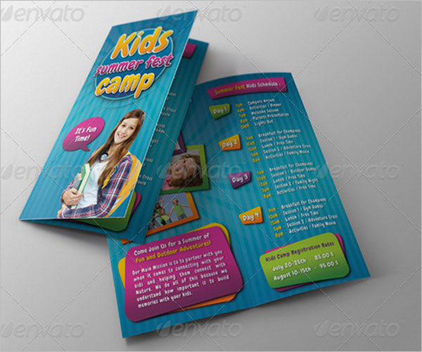 Camp Brochure Template PDF